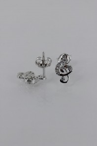 Music sign CZ Earring