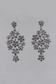Victorian style cz earring