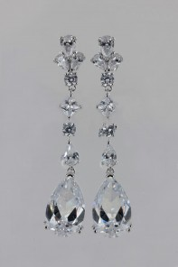 Mixed CZ Stud Earring