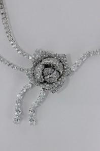 Wholesale Rose CZ Necklace