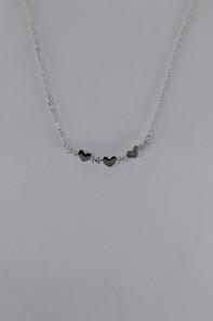 Triple heart CZ pendant