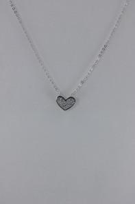 pavement heart CZ pendant