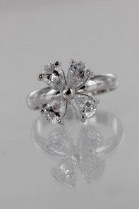 Cross II CZ Ring