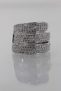Wholesale Three Line CZ Ring