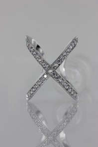 Modern Two CZ Ring