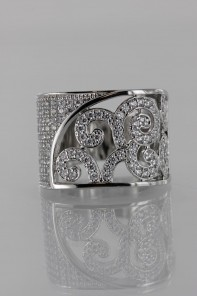 Lux Print CZ Ring
