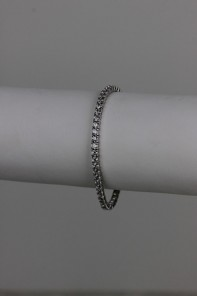 Traditional tennis CZ bracelet