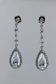 Grande dangling cubic zirconia earring