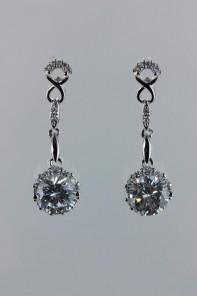 Infiniti motif dangling CZ earring