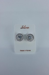 Liz Cubic Zirconia earring with silver post