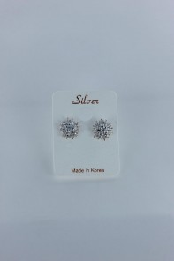 Sun Cubic Zirconia earring with silver post