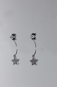 Star dangle cubic zircornia earring