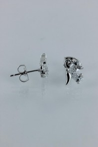 Side butterfly CZ Earring AA Grade