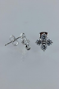 Lucy trendy four leaves CZ Earring