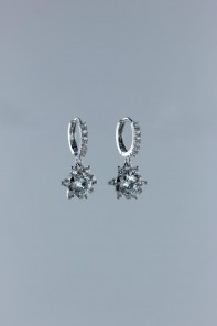 Spring flower CZ Level-style earring