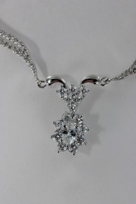 Oval wedding Cubic Zirconia necklace