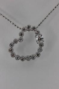 Heart CZ Pendant Necklace