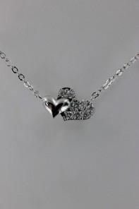Lovely heart CZ Pendant Neckalce
