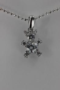 Bear CZ Pendant Necklace