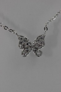Butterfly CZ Pendant Neckalce