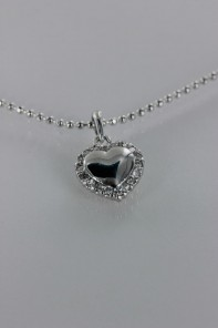 Trendy heart CZ Pendant Necklace