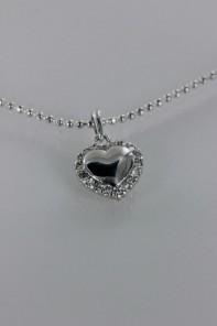Trendy heart CZ Pendant Necklace