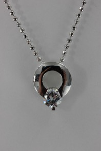 Round CZ Pendant Necklace