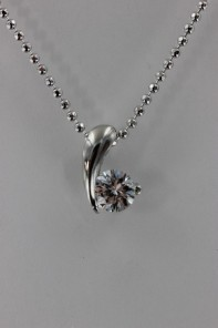 #6 CZ Pendant Necklace