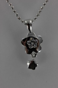 Daisy Dangle CZ Pendant Necklace