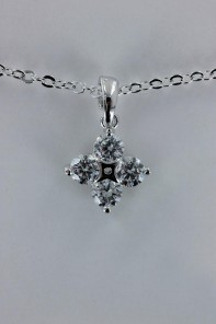 Tina basic AA Grade CZ pendant necklace