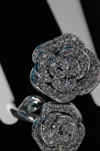 Rose double CZ Ring