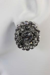 oval clip on earring