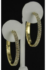 30MM 2LINE HOOP EARRING