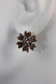 dianthus flower stud earring