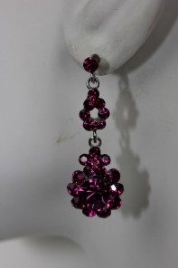 Flower dangling stud earring