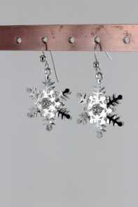 Snow Flake Hook Earring