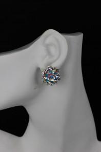 flower clipon earring