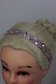 Bead silky elastic headband