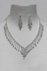 Wedding Rhinestock Necklace Set