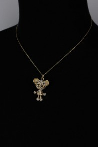 3D Mice Pendant Necklace