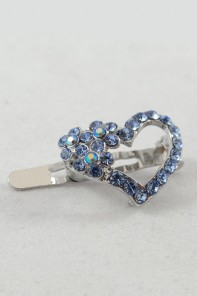 3-Flower heart magnetic hair pin