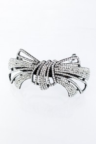 Double ribbon hair barrette
