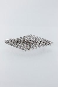 Diamond rhinestone hair barrette