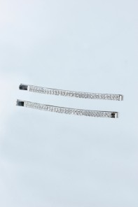 2-line rhinestone hair pin