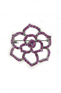 CHERRY STONE BROOCHE