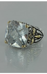 CZ-RS711 Clear Antique CZ ring