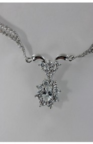 CZ-N201 Oval wedding Cubic Zirconia necklace