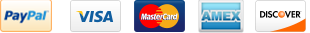 We accept Visa, mastercard, American Express, Paypal, Google Checkout and are 100% SSL Secure